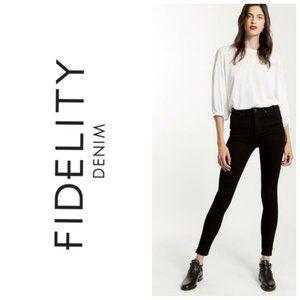 FIDELITY Velvet Black Skinny Jeans